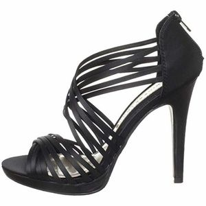 CHINESE LAUNDRY SATIN STRAPPY HEELS